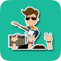 RockFest Sticker Pack for Messaging