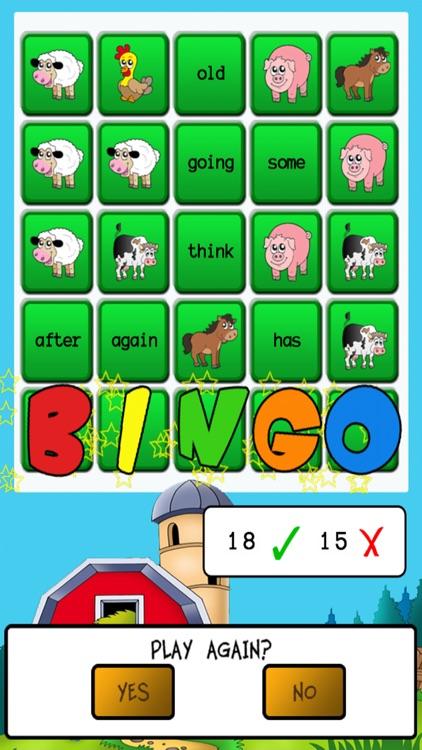 Sight Word Bingo screenshot-4
