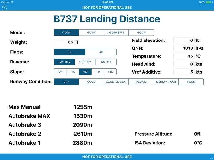 B737 Landing Distance
