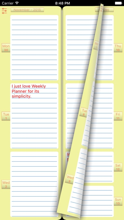 "Diary ""Weekly Planner"" screenshot-0"