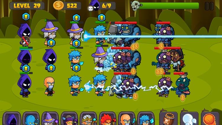 Zombies Defense vs Wizard Swamp Road Shooting Game
