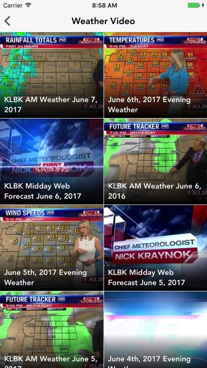 KLBK First Warning Weather screenshot-4