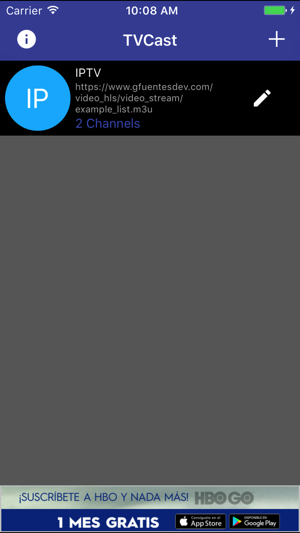 ‎TVCast IPTV on your TV Screenshot