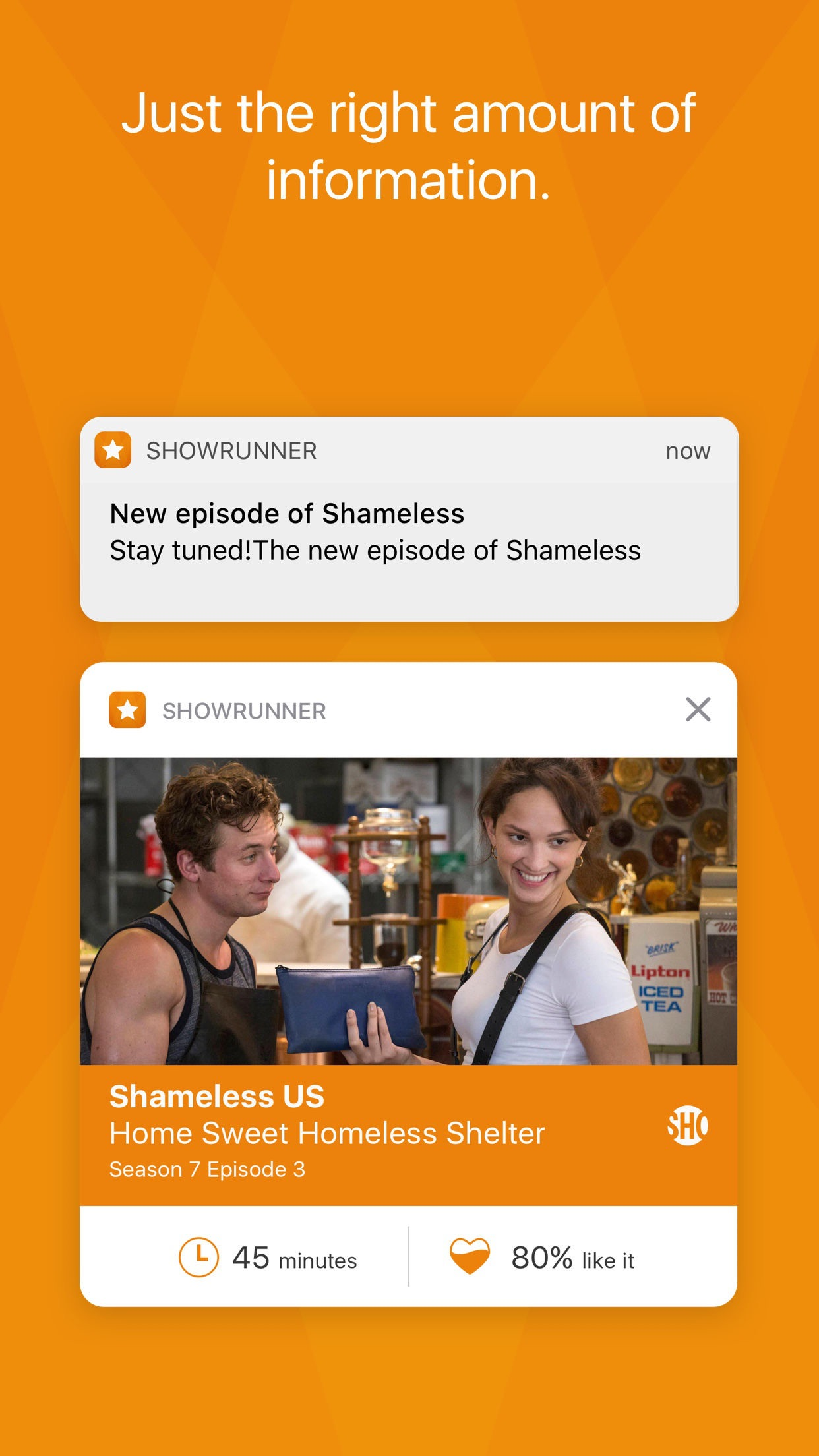 Screenshot do app Showrunner - The smart way to track TV Shows
