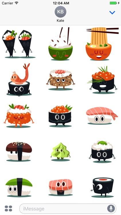 Sushi and Chinese Food Emojis