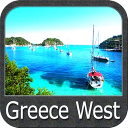 Marine: Greece West - GPS Map Navigator
