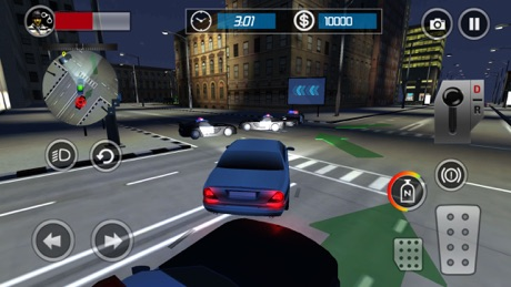 Police Car Escape 3D: Night Mode Racing Chase Game