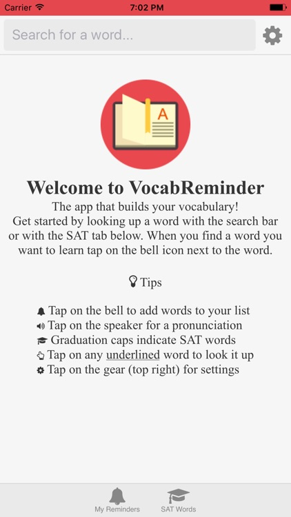 VocabReminder - English Dictionary with Reminders