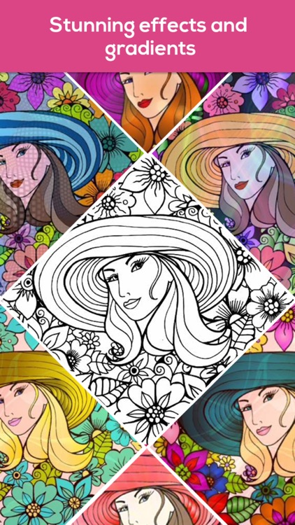 iColor Club: Coloring book and pages for Adults screenshot-3