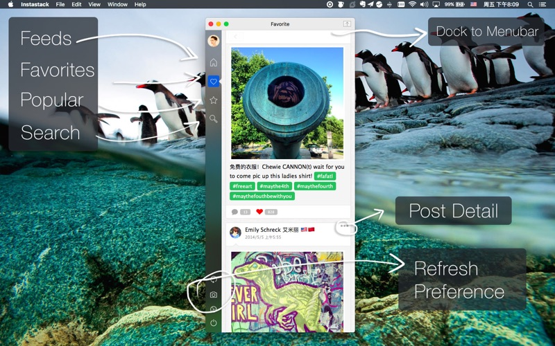PhotoStack for Instagram Screenshot