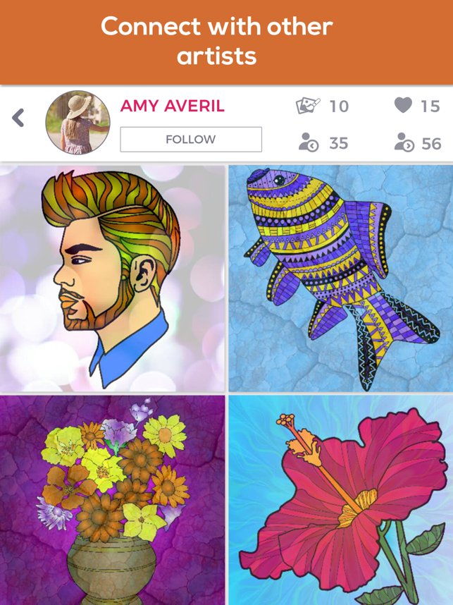 ‎iColor Club: Coloring book and pages for Adults Screenshot