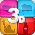 Jogo Quiz de Geografia 3D icon