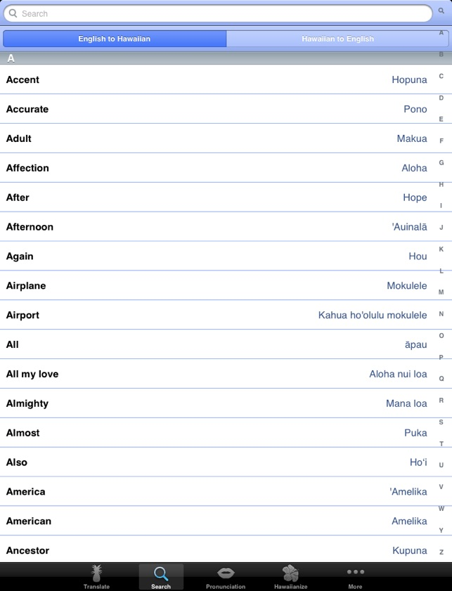 Hawaiian Words Translation And Dictionary On The App Store