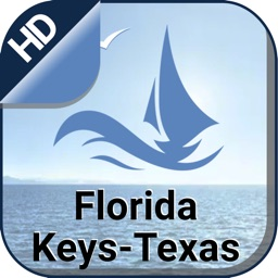 Florida Keys to Texas offline gps navigation chart