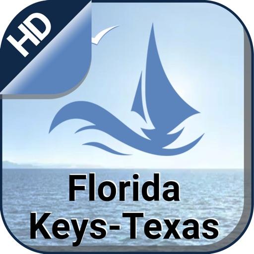 Florida Keys to Texas offline gps navigation chart