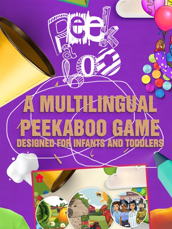 Screenshot #1 for Peekaboo Moona: Fun First Games by Baby & Toddler