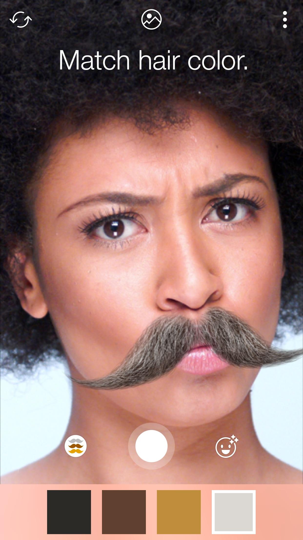 Screenshot do app Stacheify - Mustache face app