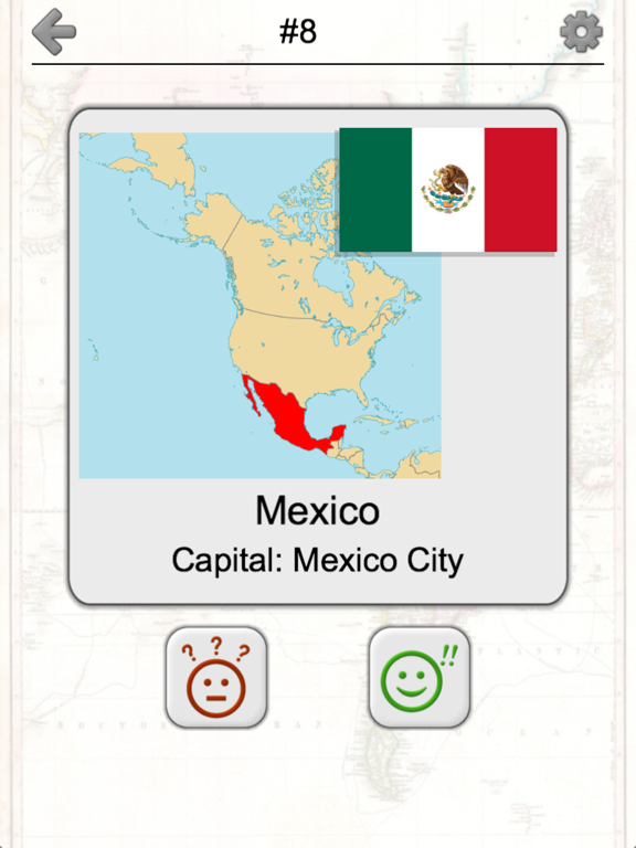American Countries and Caribbean: Flags, Maps Quiz Screenshots