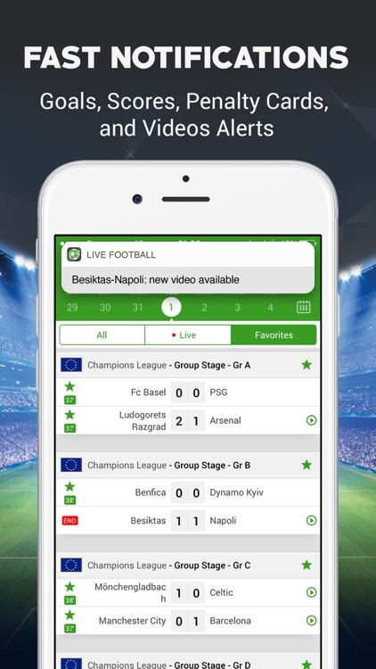 Live Football Scores - Soccer Live Score screenshot-2