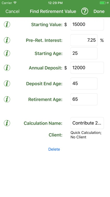 Savings Estimator