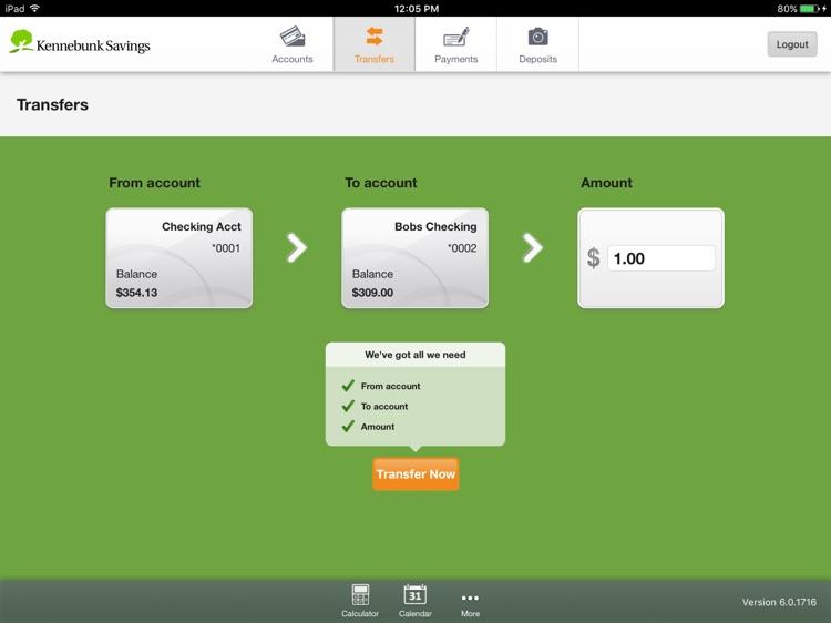 Kennebunk Savings Mobile for iPad screenshot-3