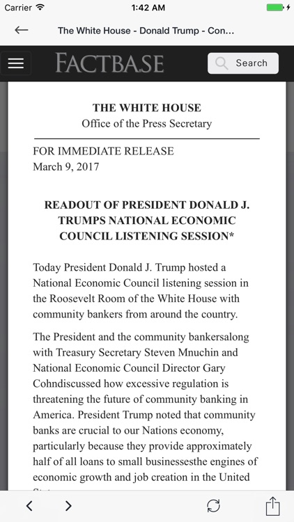 Trump White House Consolidated News Release Feed