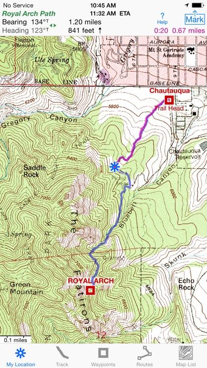 i Hike GPS : USA + SE & SW Canada Topo Maps app image