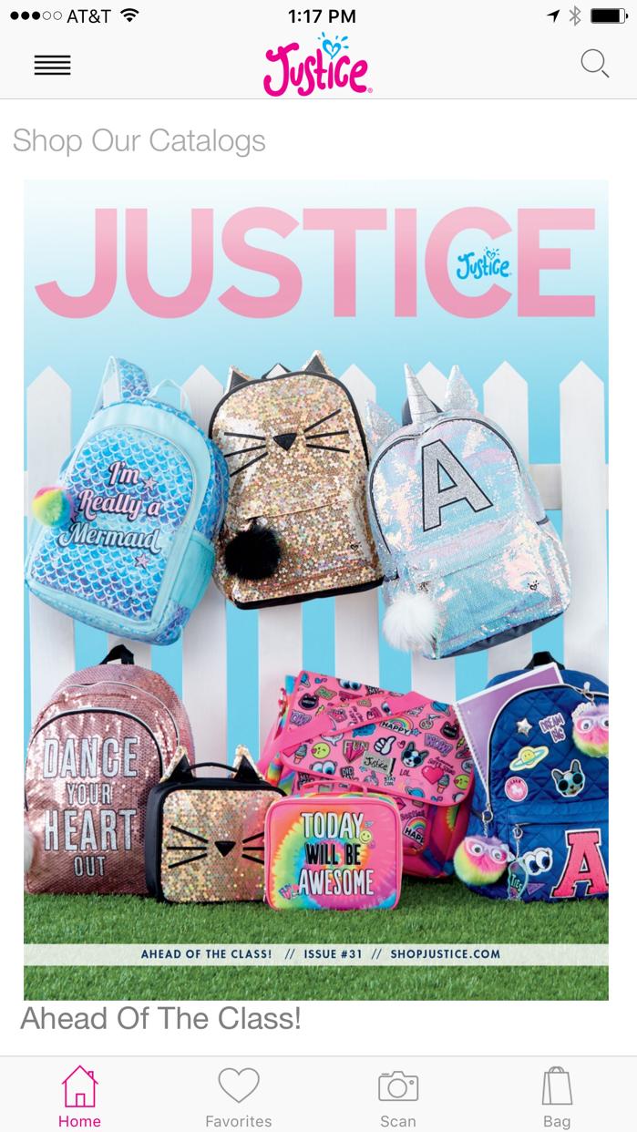 Justice Catalog Screenshot