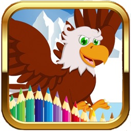 The Kingdom Of Eagle Colouring Books Game