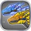 机械迅猛龙:组装/拼装恐龙玩具——双人益智拼图小游戏