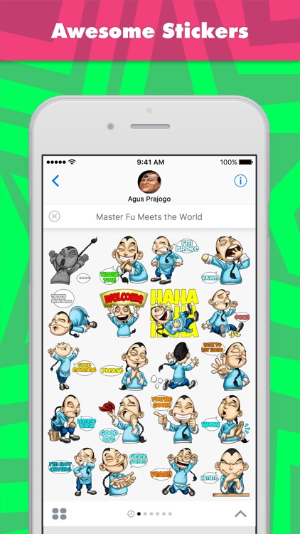 Master Fu Meets the World stickers by Choppic