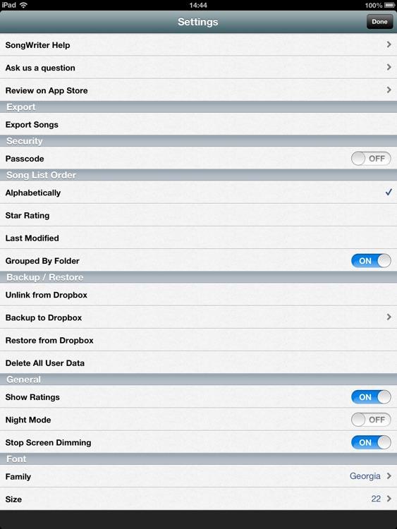 Song-Writer HD: Write Lyrics screenshot-4