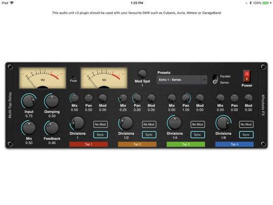 Multi-Tap Delay AUv3 Plugin screenshot 3