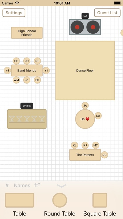 Seat Puzzle Reception Planner screenshot-1