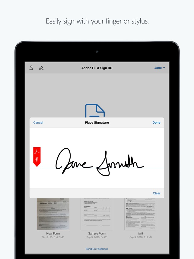 how can i fill in a pdf form on my ipad