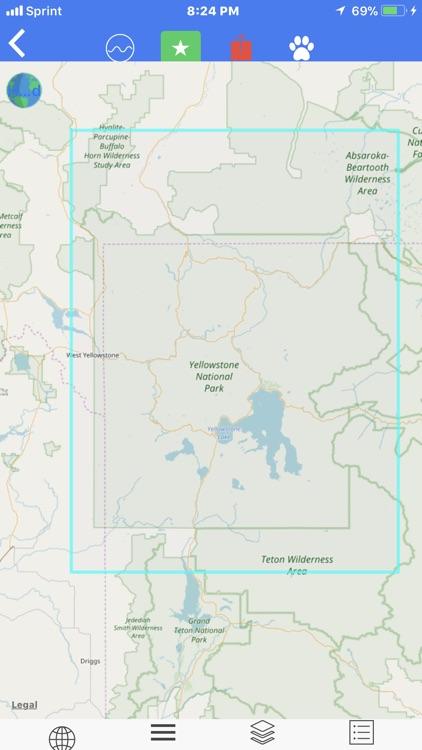 Yellow Stone Map Offline Scale screenshot-3