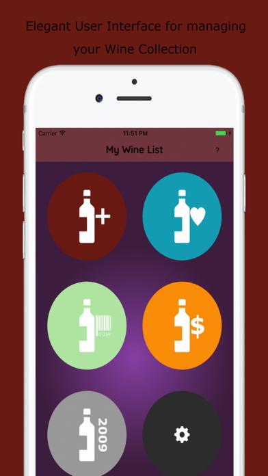 Wines List screenshot one