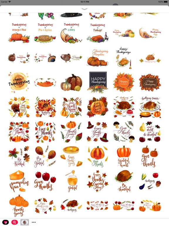 Thanksgiving Watercolor Set screenshot 8