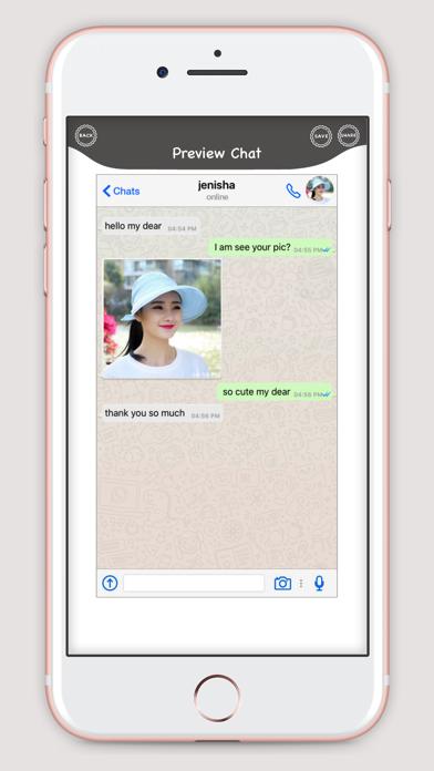 WhatsUp Prank Chat screenshot four