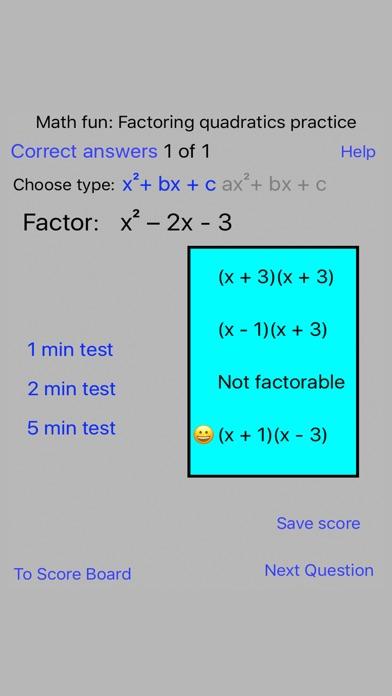 Math fun: Factoring quadratics practice - App Download - App Store ...