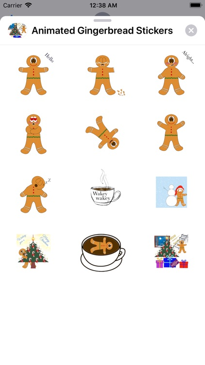 Animated Gingerbread Stickers screenshot-5