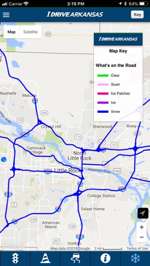 I 40 Arkansas Map.Idrive Arkansas On The App Store