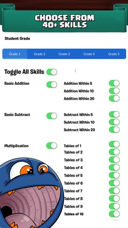 Monster Math For Kids - Games screenshot-4