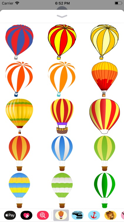 Lotsa Hot Air Balloon Stickers