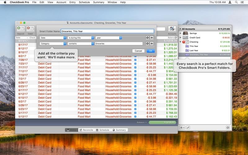 Screenshot #2 for CheckBook Pro