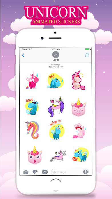 Animated UNICORN Fantastic Stickers screenshot one