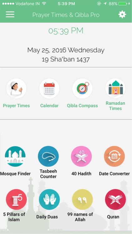 Prayer Times & Ramadan 2018