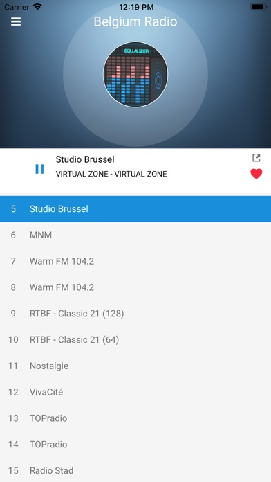 Screenshot of Belgium Radio Station: Belgian App