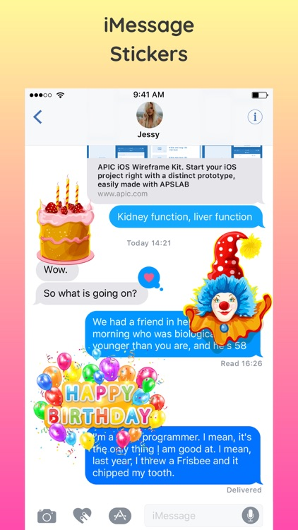 2018 Happy Birthday Stickers screenshot-3