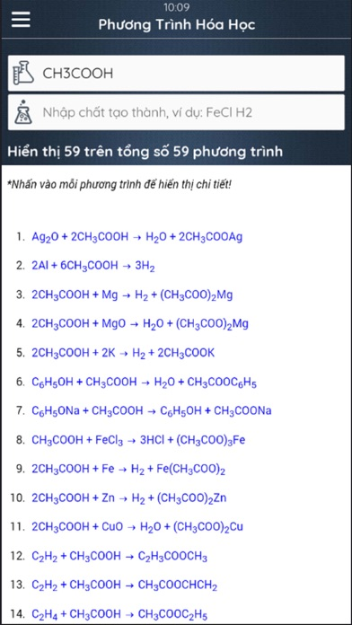 Chemical Equation screenshot one